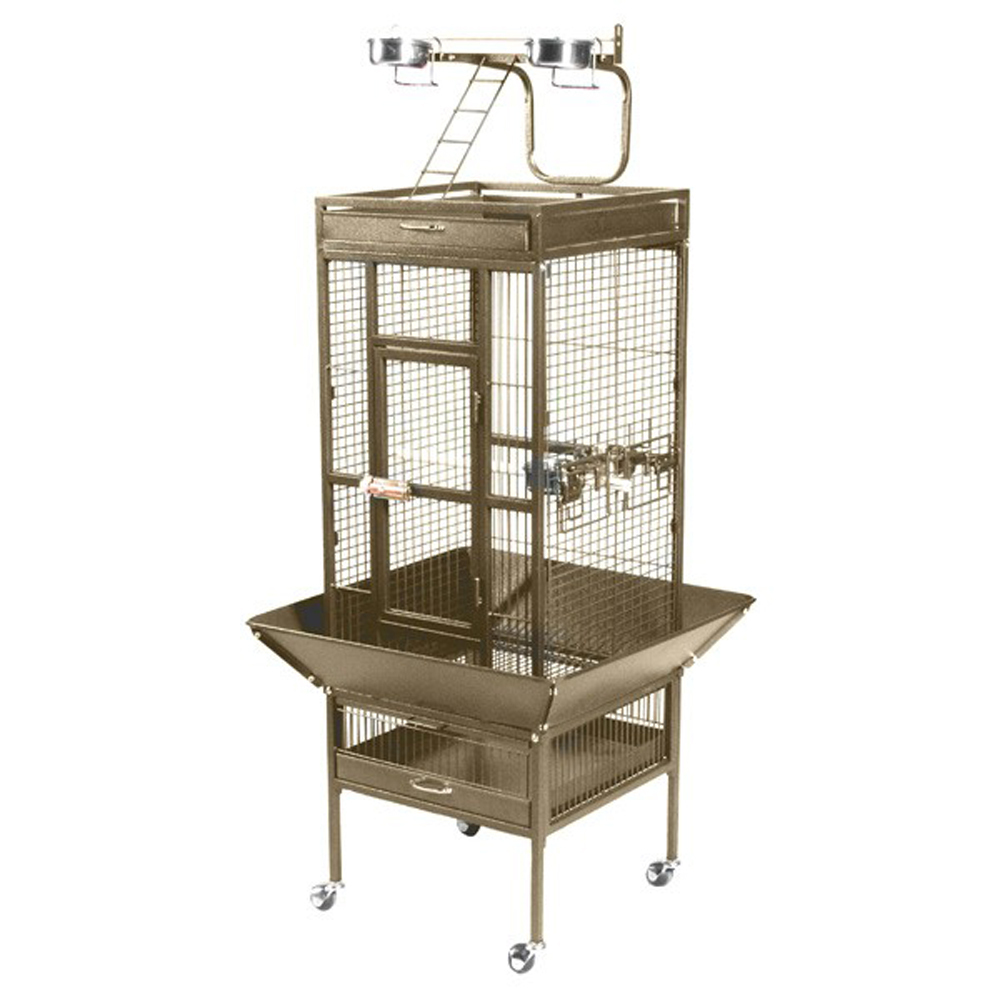 Prevue Hendryx Small Wrought Iron Select Bird Cage - Coco Brown 961-PP-3151COCO