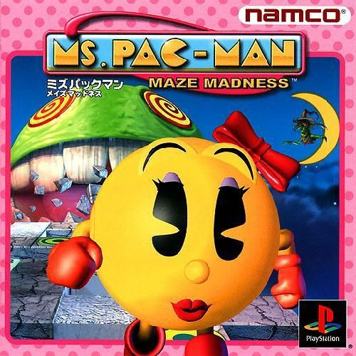 Ms Pac-Man - Maze Madness, Sony Playstation One PS1, Import Japan Game