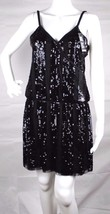 Express women's dress sequin sleeveless black party dress size M - $21.29