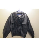 Mens Leather Jacket  Size L  Made in Italy Gruppo Artingiano Pelle - $35.50