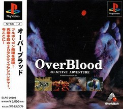 OverBlood v1, Playstation One PS1, Import Japan Game - $14.99