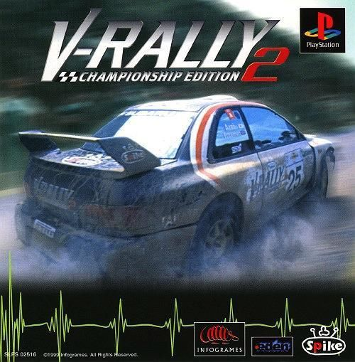 V-Rally 2 - Championship Edition, Sony Playstation One PS1, Import Japan Game