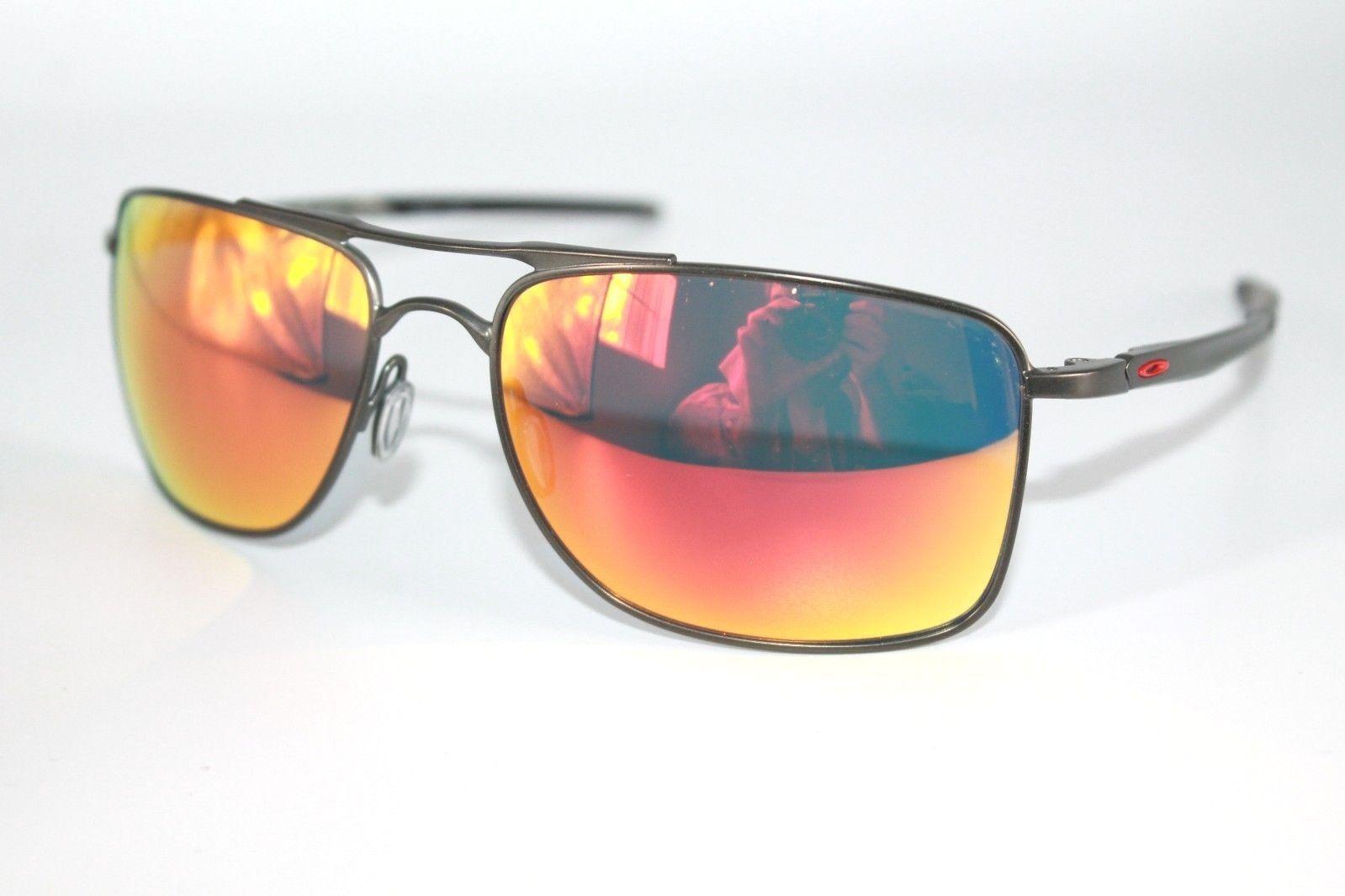 bc2873fb8b 57. 57. Oakley Gauge 8 Sunglasses OO4124-03 Matte Carbon Frame W  Ruby  Iridium Lens 57mm · Oakley Gauge ...