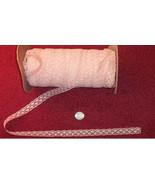 """3/4"""" Flat Peach Lace (10 yards) 25 cents/yard - $2.50"""