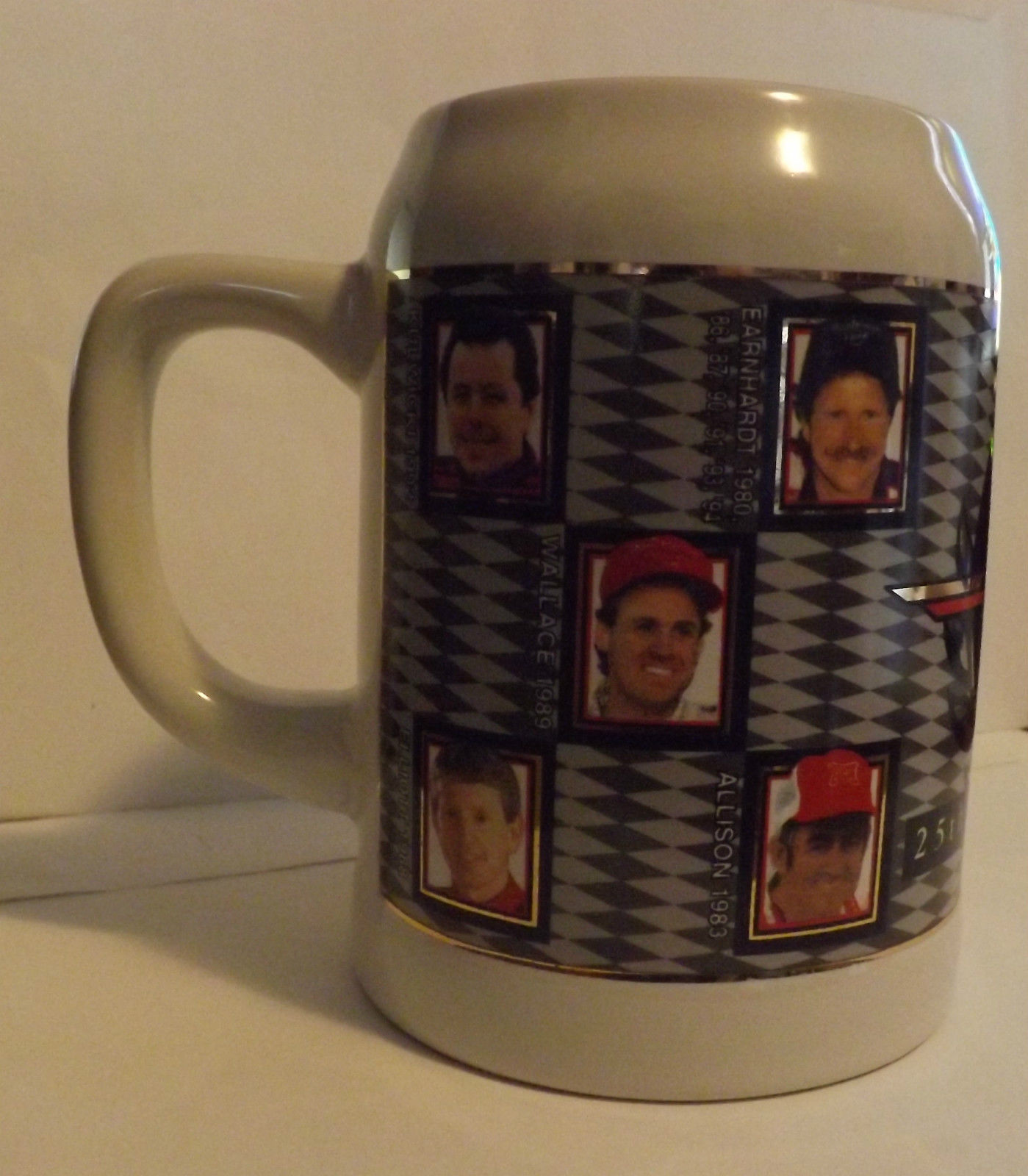 Winston Cup Champions 25th Anniversary Collectors Stein image 2