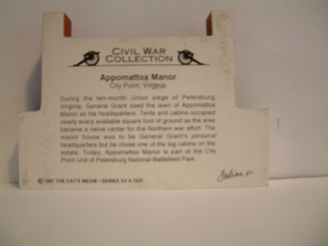 Cats Meow 1997 Civil War Collection Appomattox Manor 1997 image 2