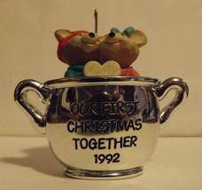 Hallmark Keepsake Ornament Our First Christmas Together 1992 image 1