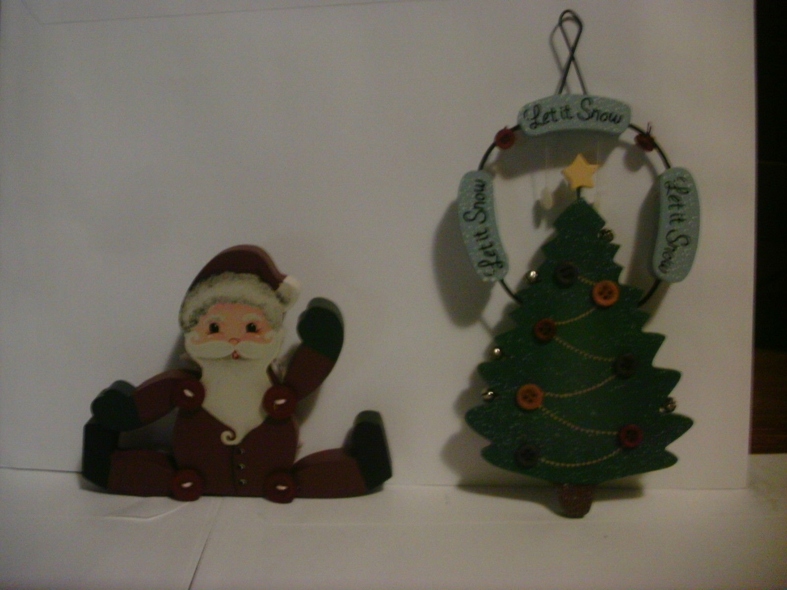2 Wooden Tender Heart Treasures Ltd Decorations Christmas Tree & Santa