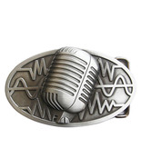 Vintage Microphone Rock Music Oval Belt Buckle Gurtelschnalle also Stock... - $7.62