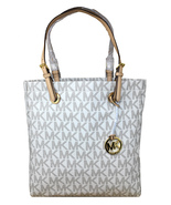 Michael Kors Jet Set Item North South Tote in Signature Vanilla PVC - NWT - $119.95