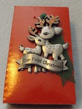 Pewter Reindeer Our First Christmas Together Ornament by Gloria Duchin, Inc - $14.99