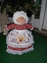"Soft Sculptured 23"" Free Standing Grandma Red, White Black Kerchief Hankerchief image 1"