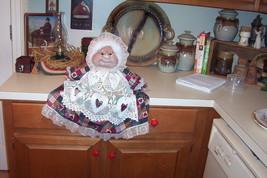 "Soft Sculptured 23"" Free Standing Grandma Victorian Shabby Border Print Roses image 4"