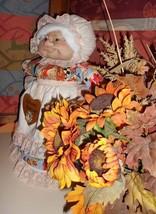 "Soft Sculptured 23"" Free Standing Grandma Autumn Harvest Blessings Fall Pumpkins image 1"