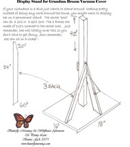 Vacuum Cover Soft Sculpture Grandma - Rust and Cream border print image 3