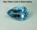 11.33 Cts 18.6x12x9.7 MM Natural Top Blue Aquamarine Pear Cut Eye Clean Gemstone - $2,361.14