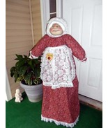 Vacuum Cover Soft Sculpture Grandma - Red, White and Black Kerchief Hank... - $85.00