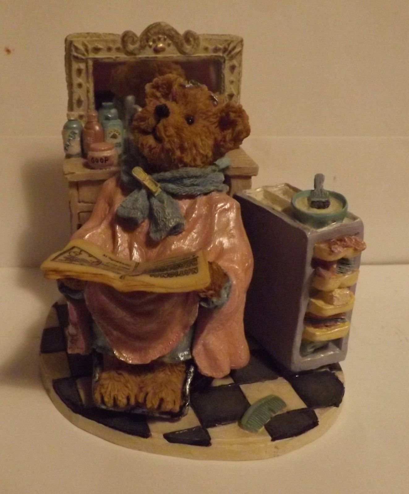 Boyds Bear Resin Figurine Tressa Bouffant...Work in Progress