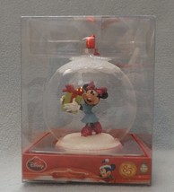 "Disney 3"" Glass Ball with Minnie Ornament image 1"
