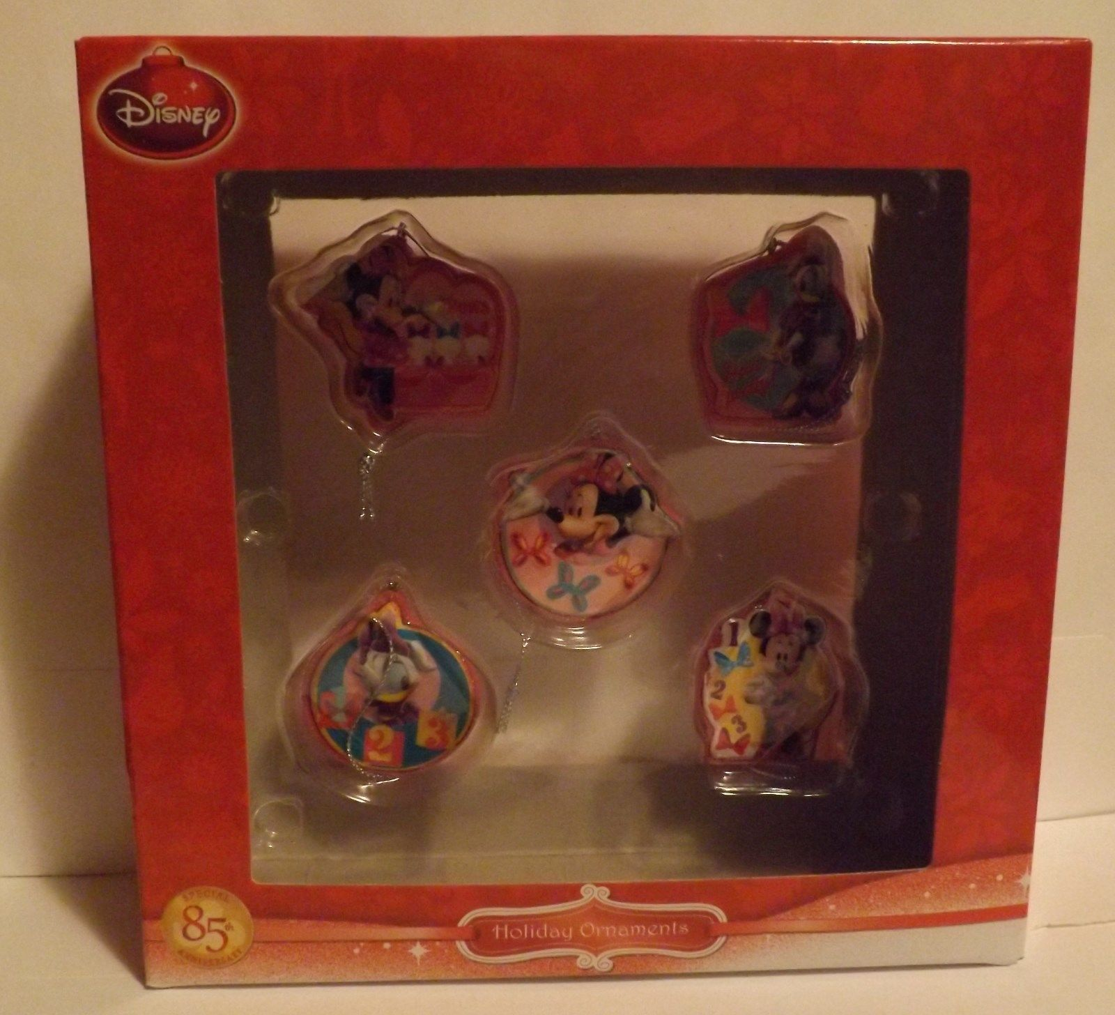 Disney Jr Minnie Bowtique 5 Piece Mini Ornament Set