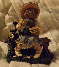 Boyds Bear Resin Classic Bearytales Series Lil' Miss Muffet...What's in the Bowl image 1