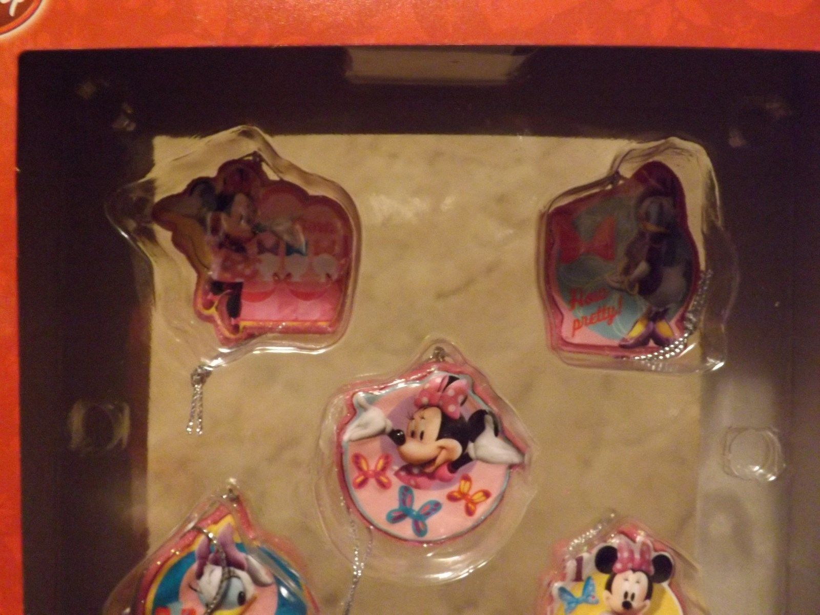 Disney Jr Minnie Bowtique 5 Piece Mini Ornament Set image 2