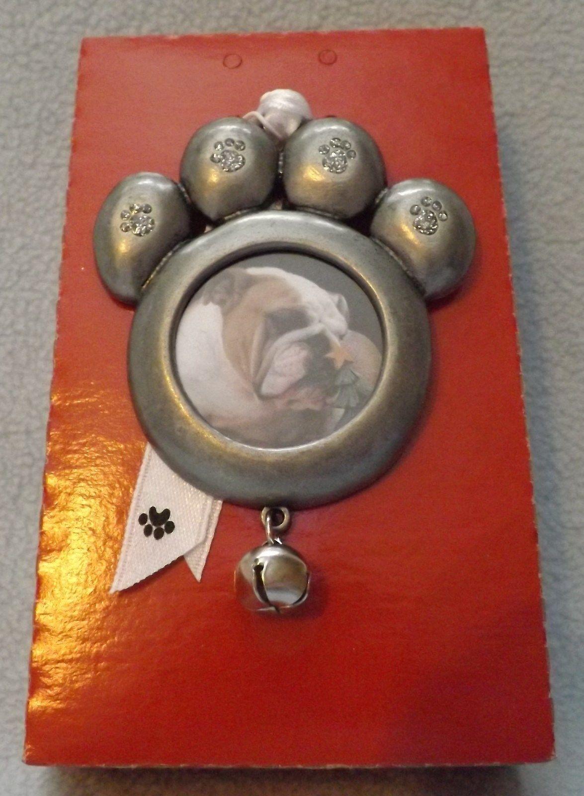 Pewter Pet Paw Photo Ornament by Gloria Duchin Inc