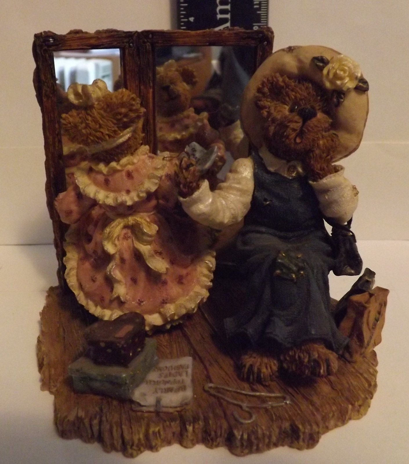 Boyds Bear Resin Margaret with Kristen...There Goes the Budget