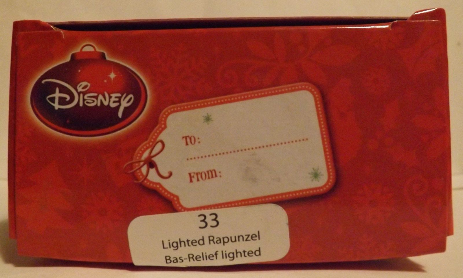 "Disney 3"" Lighted Rapunzel Bas-Relief Lighted Ornament 2013 image 2"