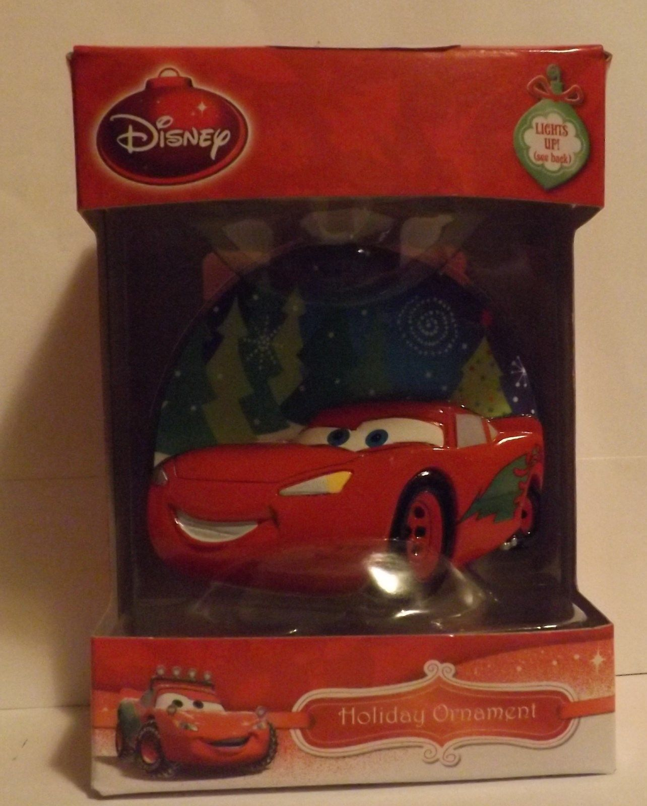 "Disney Cars Lightning McQueen 3"" Bas-Relief Lighted Ornament"