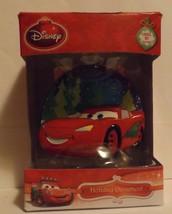 "Disney Cars Lightning McQueen 3"" Bas-Relief Lighted Ornament - $14.99"