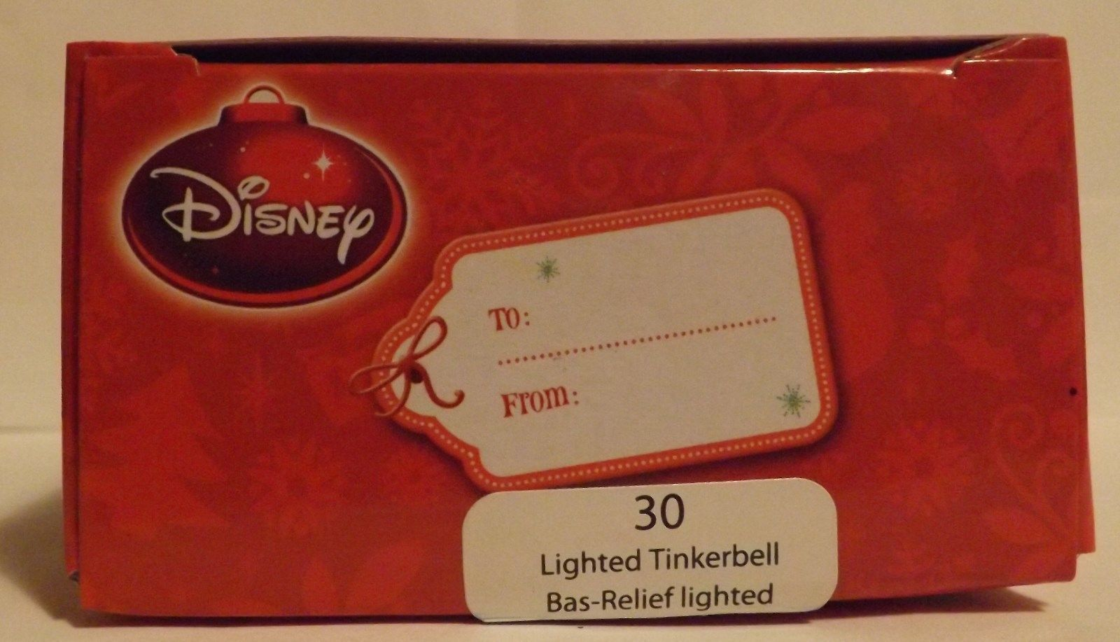 "Disney Tinkerbell 3"" Lighted Bas-Relief Ornament image 2"