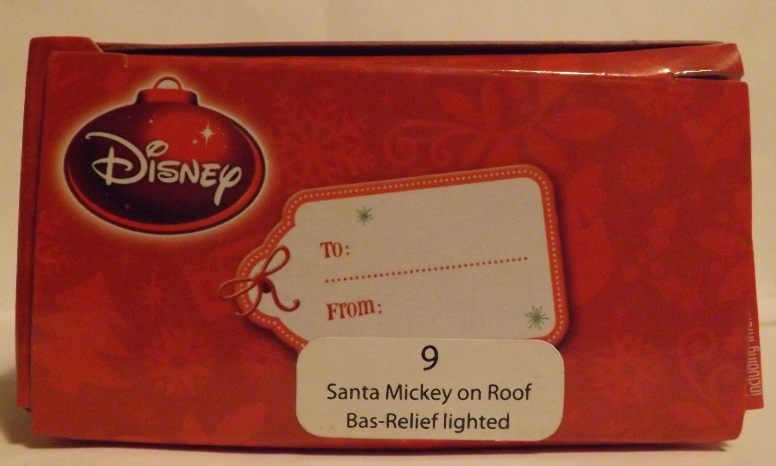 """Disney 3"""" Santa Mickey on Roof Bas-Relief Lighted Ornament image 2"""