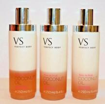 3 Victoria's Secret Vs Perfect Body Twise fresh Coconut Oil silkening bo... - $37.99