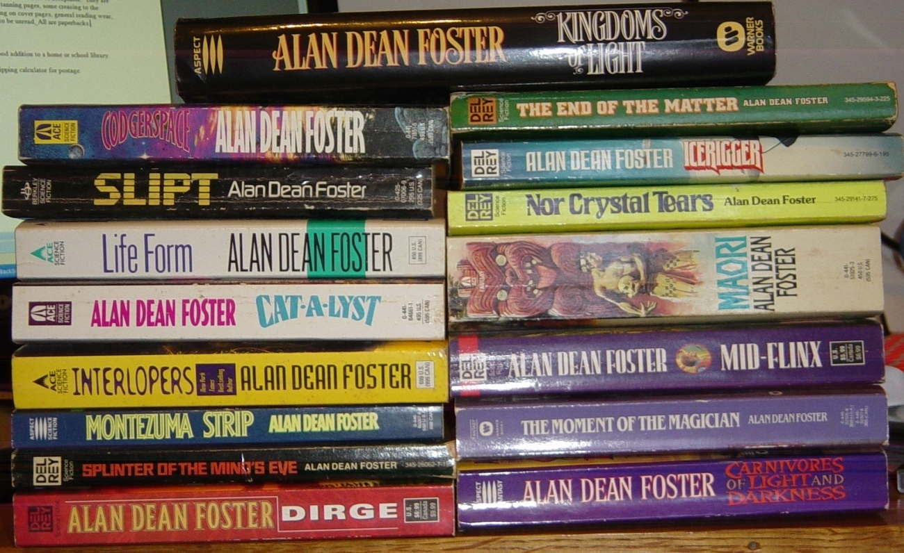 Lot 16 Alan Dean Foster Science Fiction Flinx Books