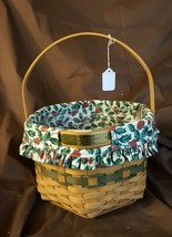 Longaberger 1997 Christmas Collection SNOWFLAKE BASKET Fabric Liner Prot... - $19.95