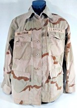 US AIR FORCE CAMO Combat Shirt Desert w/ Stripes Patches SMALL Reg BDU, GT - $23.62