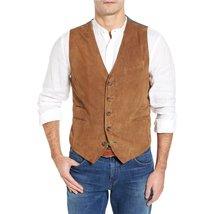 Dual Suede Leather Men Leather Vest