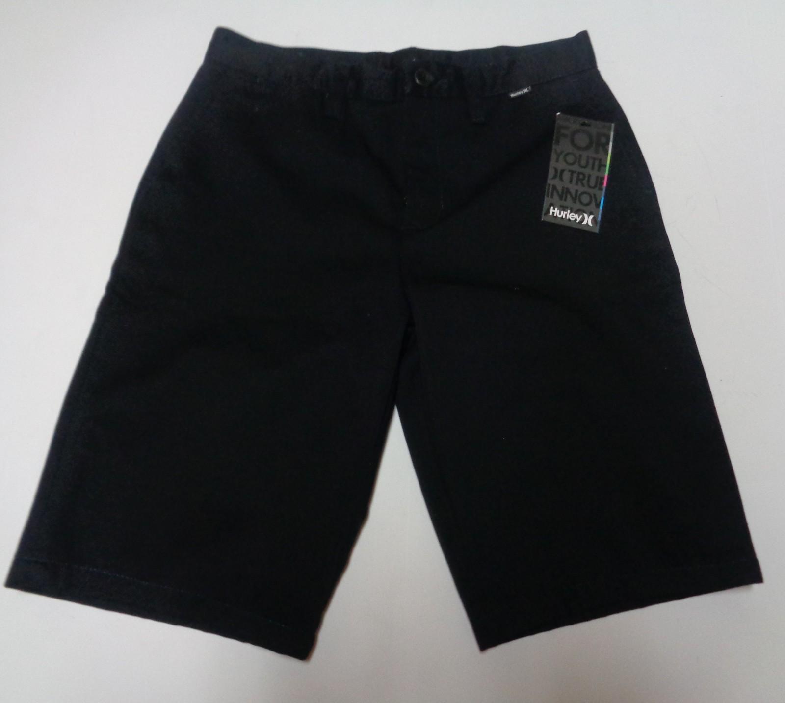 Hurley One & Only Chino Walk Shorts Black NWT Sz 27