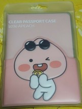 KAKAO FRIENDS PVC Clear Travel Passport Case Little APPEACH SEALED - $20.46