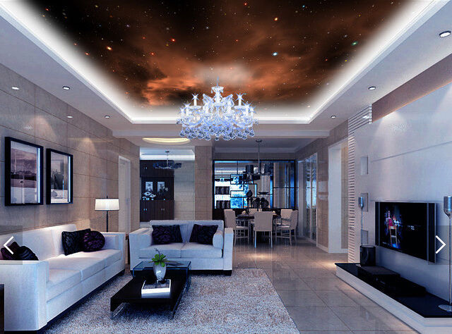 3D Brown Night Star 1 WallPaper Murals Wall Print Decal Deco AJ WALLPAPER GB - $34.47 - $396.03