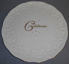 Lenox CELEBRATE - CELEBRATION COLLECTION Embossed CAKE PLATE - $29.69