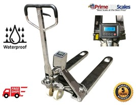 OP-918SS Full Stainless Steel Pallet Jack Scale 3,300 x .5 lb Wash Down ... - $4,499.00