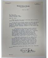 """Henry """"Scoop"""" Jackson Signed Autographed 1975 Letter on US Senate Letter... - $29.99"""