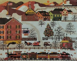 Holiday Train Needlepoint Kit Dimensions Wysocki XMAS CANVAS ONLY MultiC... - $24.95