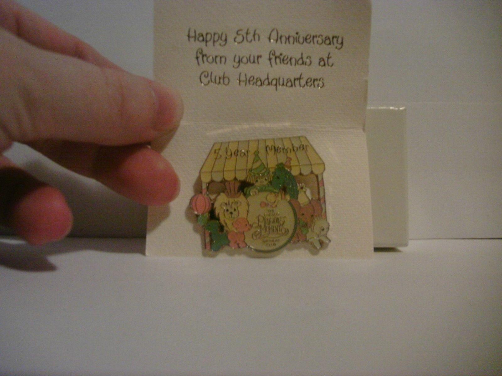 Precious Moments 1990 5 Year Birthday Club Pin
