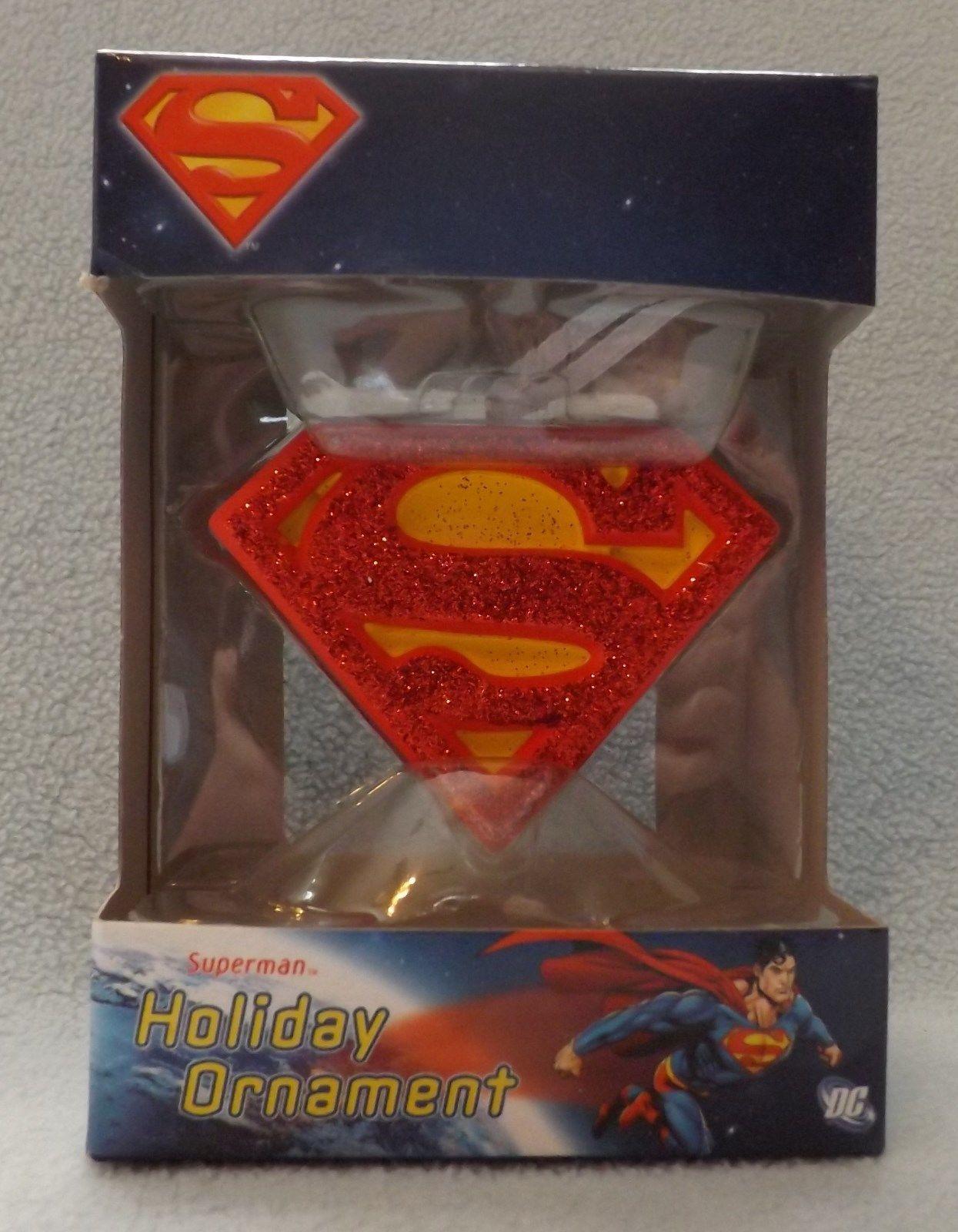"Superman Shield 3"" 3D Figural Resin Ornament"
