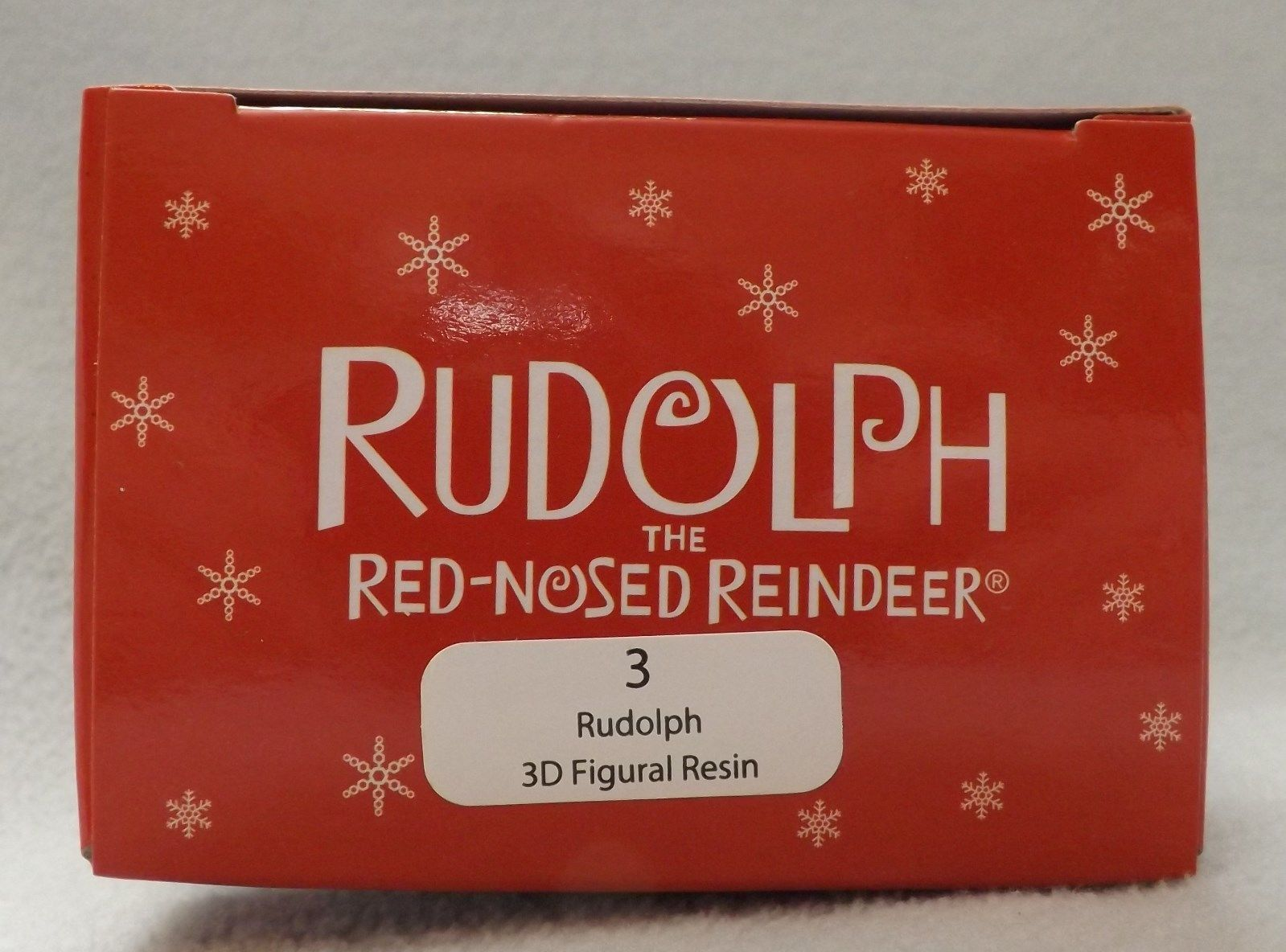 """3"""" Rudolph the Red Nosed Reindeer 3D Figural Resin Ornament"""