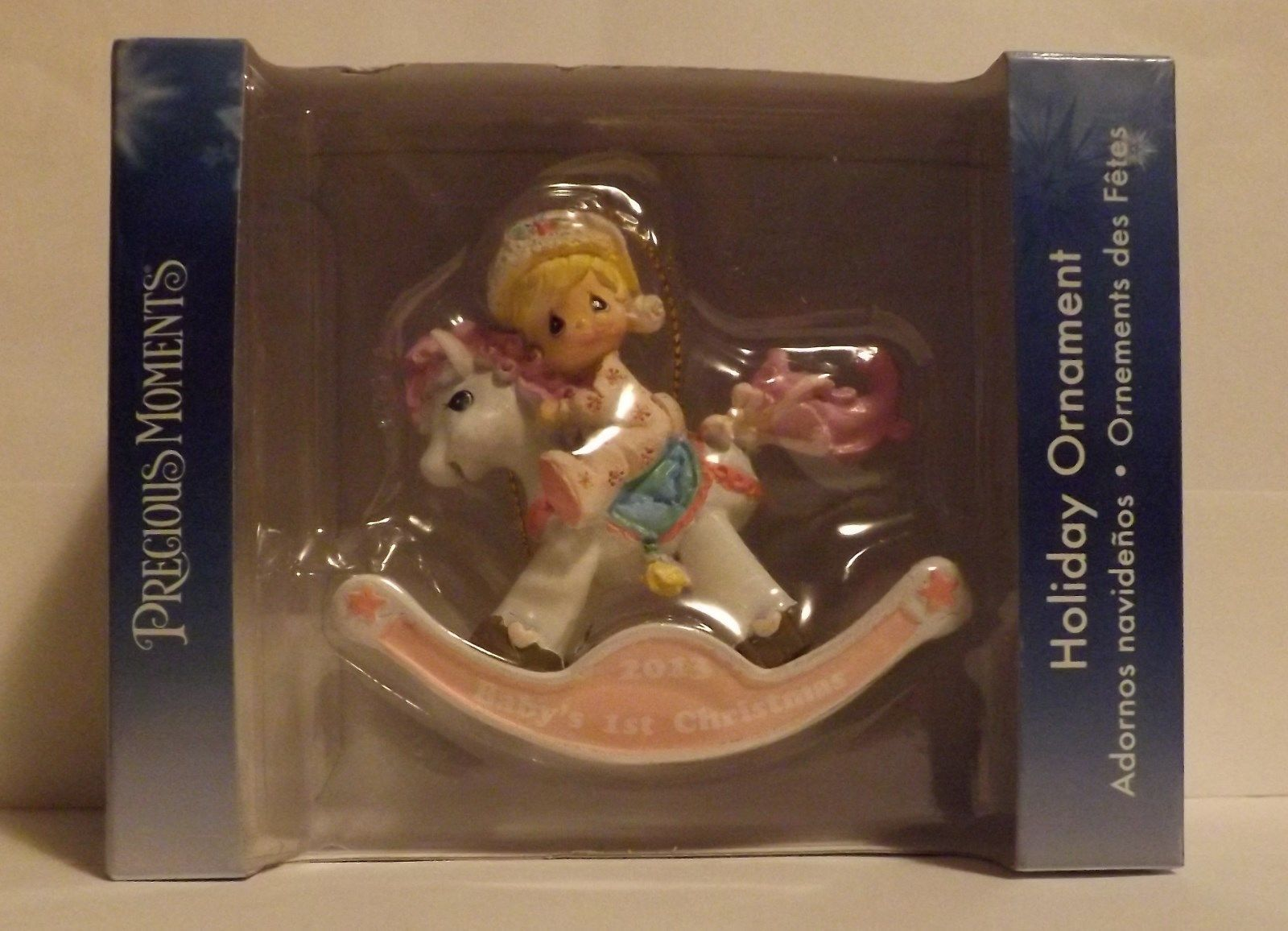 Precious Moments Baby's First Christmas Girl Ornament 2013