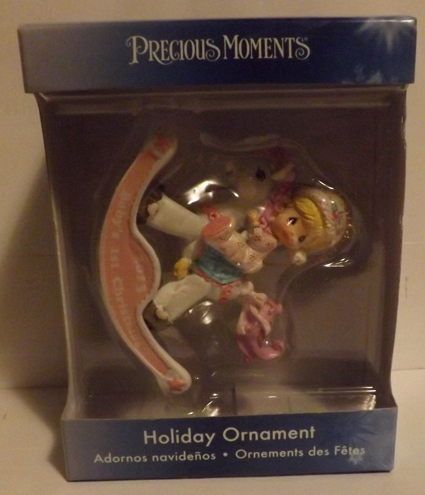 Precious Moments Baby's First Christmas Girl Ornament 2013 image 2